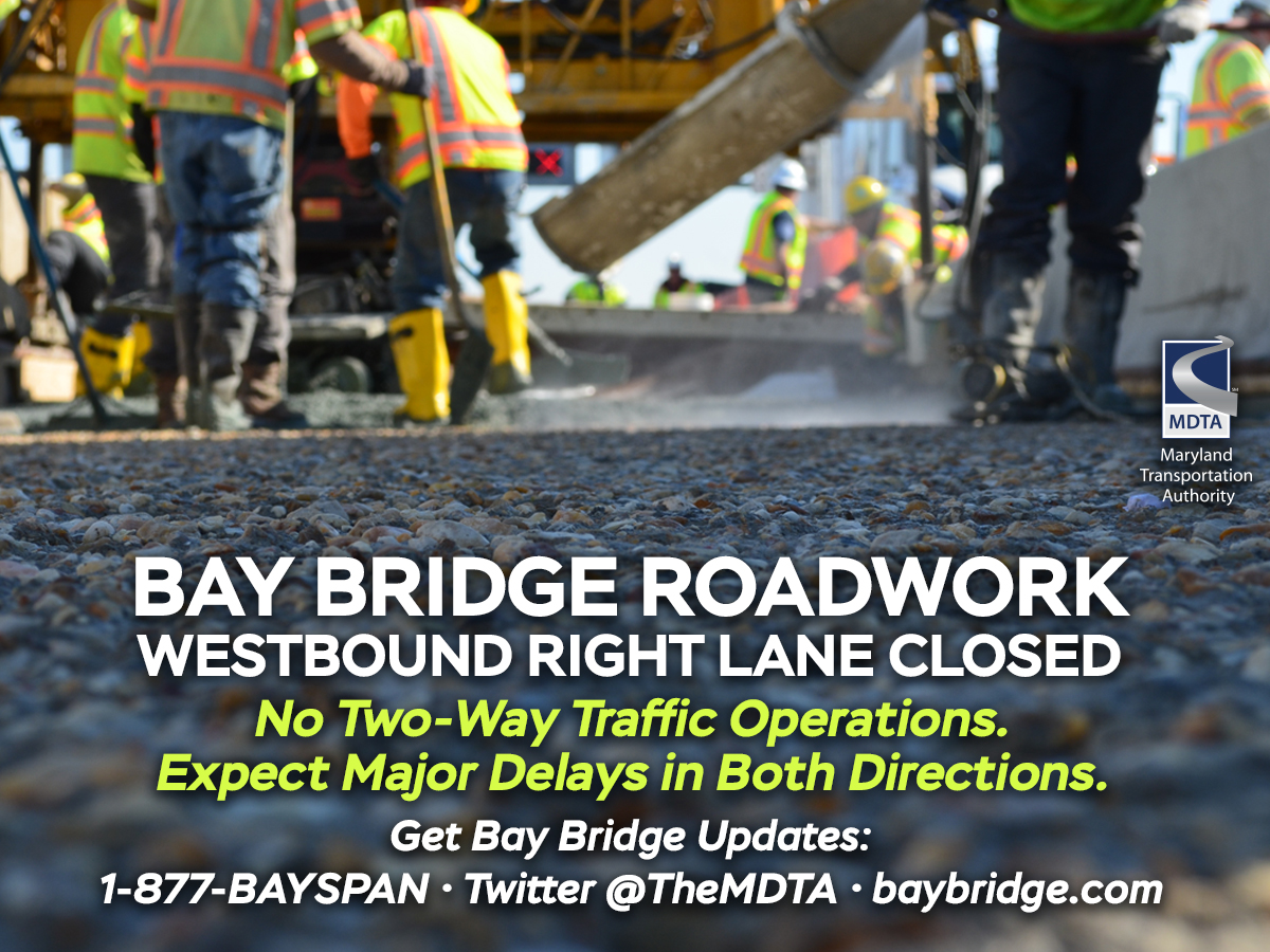 Bay Bridge Roadwork... Follow link to learn more.