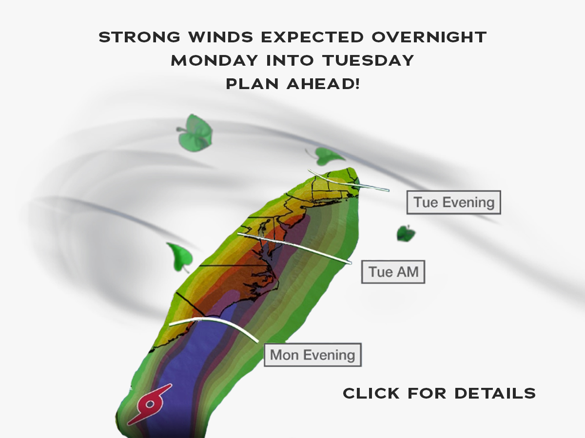 STRONG WINDS EXPECTED